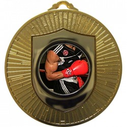 Gold Boxing Medal 60mm