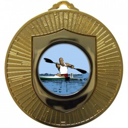 Gold Canoeing Medal 60mm