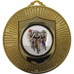 Gold Cycling Medal 60mm
