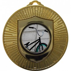 Gold BMX Medal 60mm