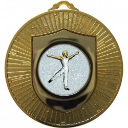 Gold Male Dance Medal 60mm