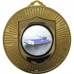 Gold Rubber Dinghy Medal 60mm
