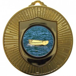 Gold Wooden Dinghy Medal 60mm