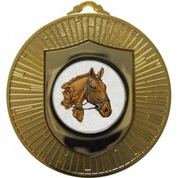 Gold Equestrian Medal 60mm