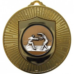 Gold Fencing Medal 60mm