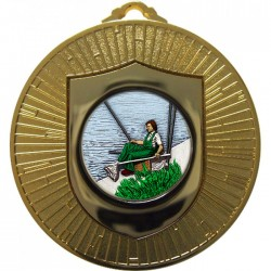 Gold Fishing Medal 60mm