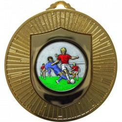 Gold Male Football Medal 60mm