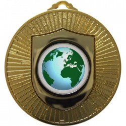 Gold Globe Medal 60mm