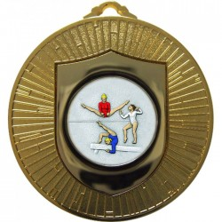 Gold Female Gymnastics Medal 60mm