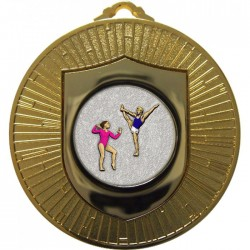 Gold Gymnastics Floor Medal 60mm