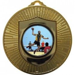 Gold Handball Medal 60mm