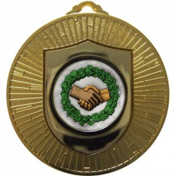 Gold Handshake Medal 60mm