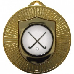Gold Hockey Medal 60mm