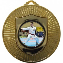 Gold Karate Medal 60mm