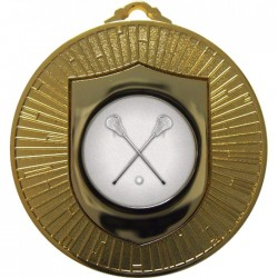 Gold Lacrosse Medal 60mm