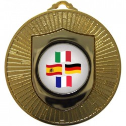 Gold Languages Medal 60mm