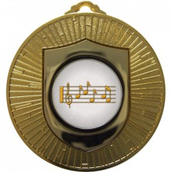 Gold Music Medal 60mm