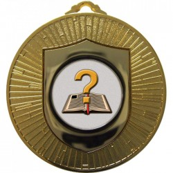 Gold Quiz Medal 60mm