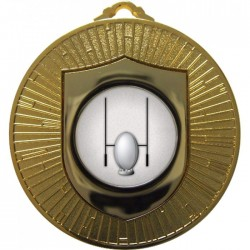 Gold Rugby Medal 60mm