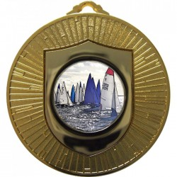 Gold Sailing Medal 60mm