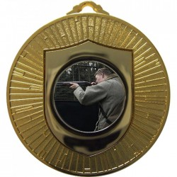 Gold Clay Pigeon Shooting Medal 60mm