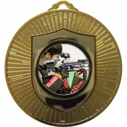 Gold Rifle Shooting Medal 60mm