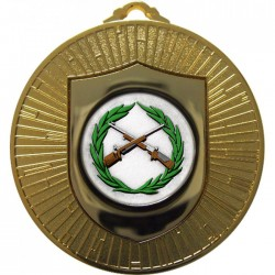 Gold Small Bore Rifle Shooting Medal 60mm