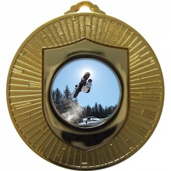 Gold Snowboarding Medal 60mm