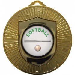 Gold Softball Medal 60mm