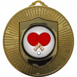 Gold Table Tennis Medal 60mm