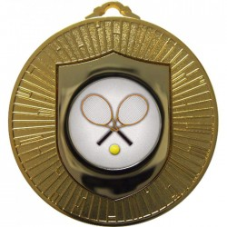 Gold Tennis Medal 60mm