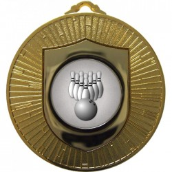 Gold Ten Pin Bowling Medal 60mm