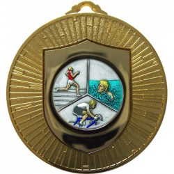 Gold Triathlon Medal 60mm