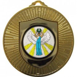 Gold Victory Female Medal 60mm