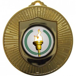 Gold Victory Torch Medal 60mm