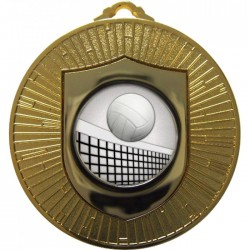 Gold Volleyball Medal 60mm