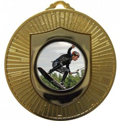 Gold Wake Boarding Medal 60mm