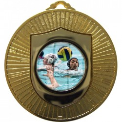 Gold Water Polo Medal 60mm