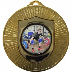 Gold Weightlifting Medal 60mm