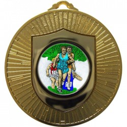 Gold Cross Country Medal 60mm