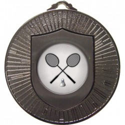 Silver Badminton Medal 60mm