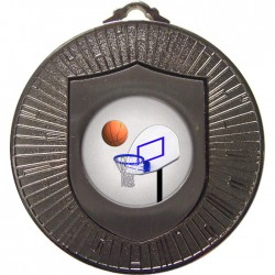 Silver Basketball Medal 60mm