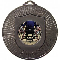 Silver Wheelchair Basketball Medal 60mm
