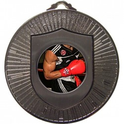 Silver Boxing Medal 60mm