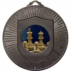 Silver Chess Medal 60mm