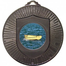 Silver Wooden Dinghy Medal 60mm