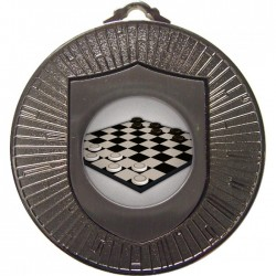 Silver Draughts Medal 60mm