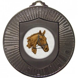 Silver Equestrian Medal 60mm
