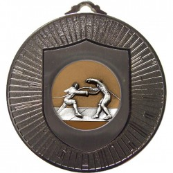 Silver Fencing Medal 60mm