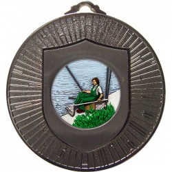 Silver Fishing Medal 60mm